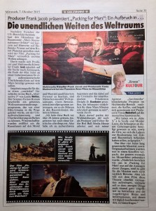 Packing for Mars Zeitung